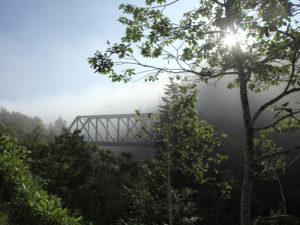 2013年第8回ほろかないフォトコンテスト:準グランプリ「霧の中の鉄道」藤本 武行(沼田町)