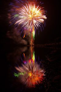 2011ほろかないフォトコンテスト準グランプリ作品 『虹色に染まる湖面』 - 佐藤 圭(留萌市)