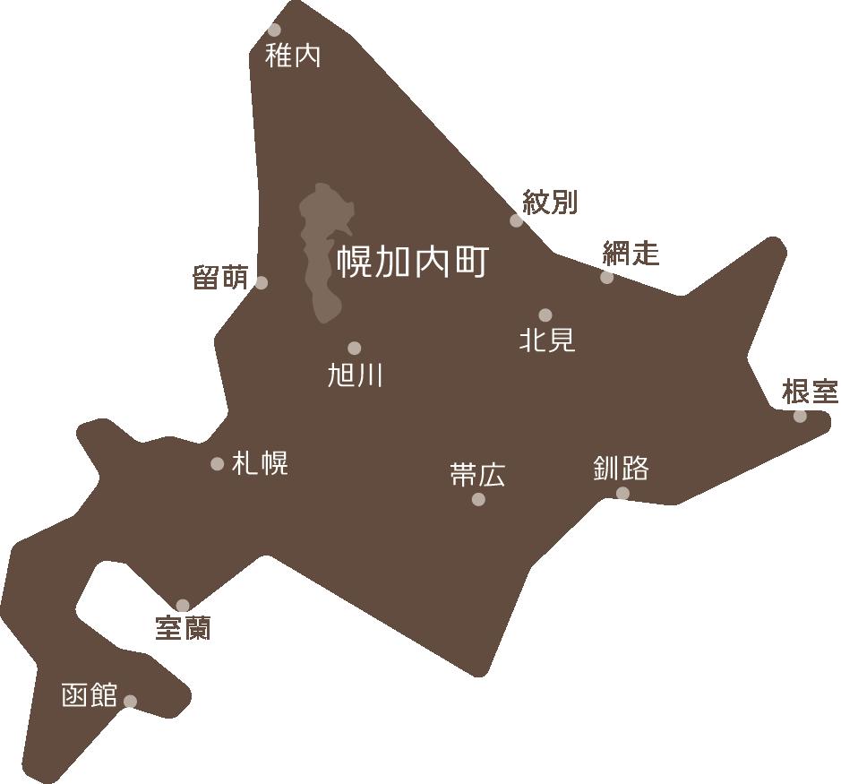 幌加内町の位置